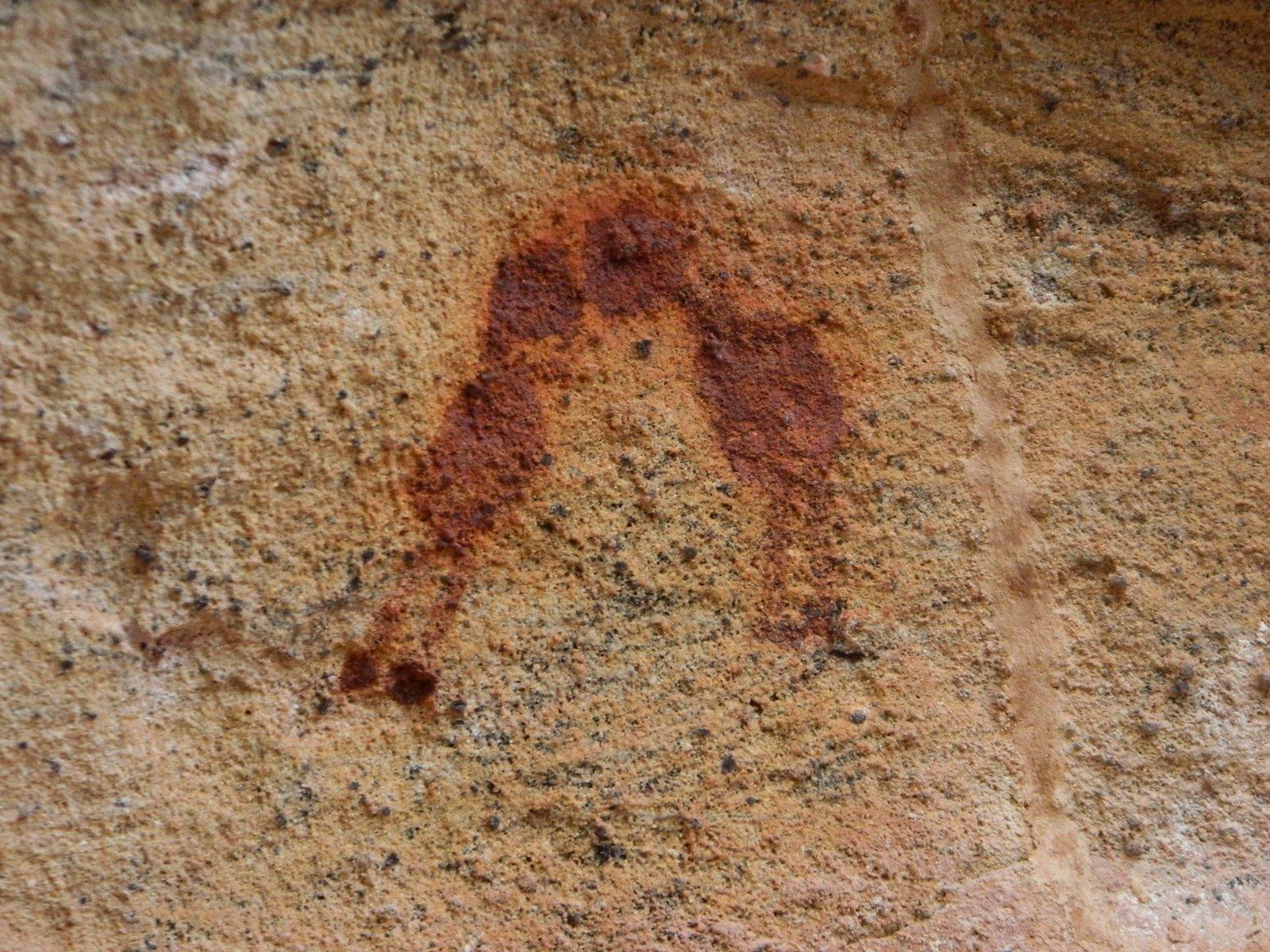 """""""O beijo"""", pintura rupestre do Parque Nacional da Serra da Capivara, Piauí."""