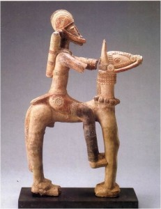 cavaleiro de mali cerâmica