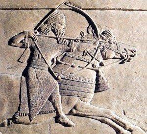 Cavaleiro assírio, detalhe de relevo