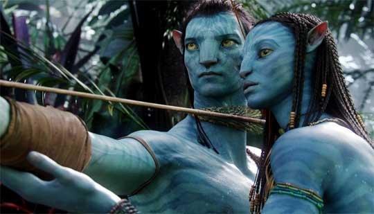 """Habitantes do planeta Pandora no filme """"Avatar"""" (2009)."""