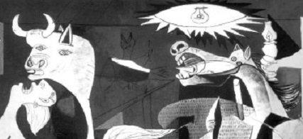 """""""Guernica"""", detalhe."""