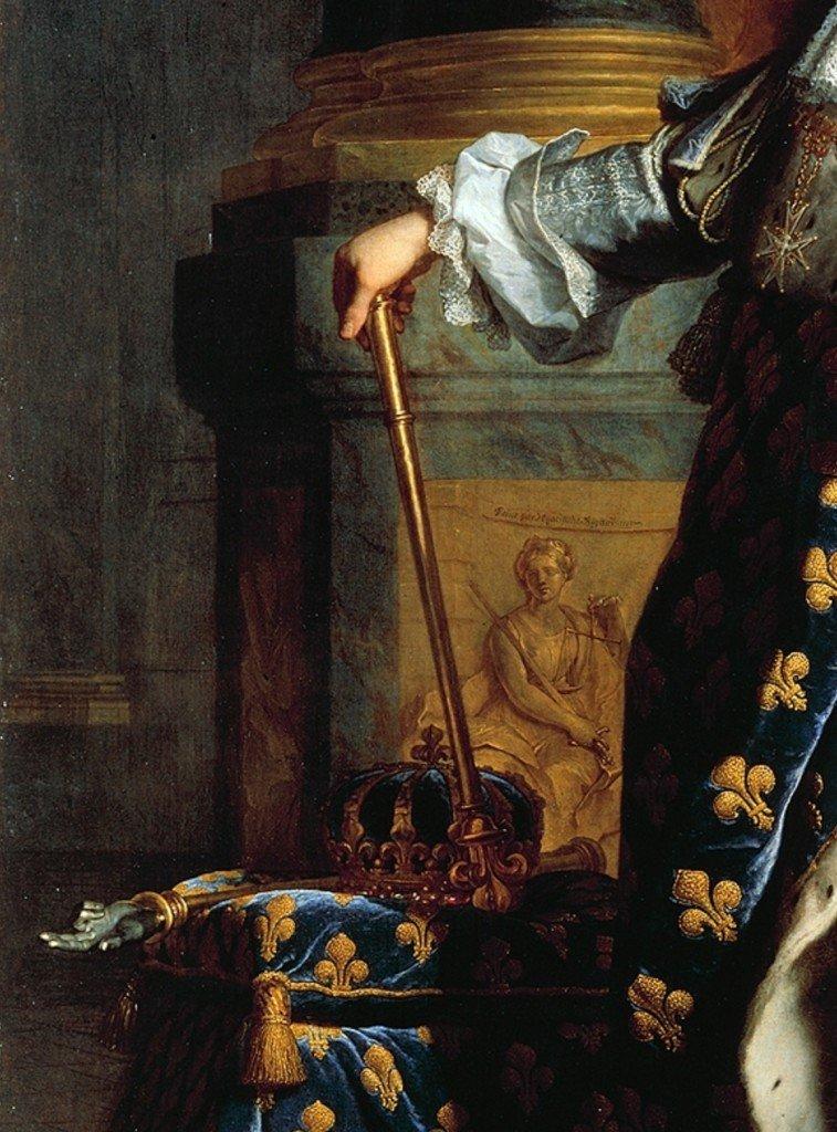 pilar, detalhe Luis XIV, Rigaud