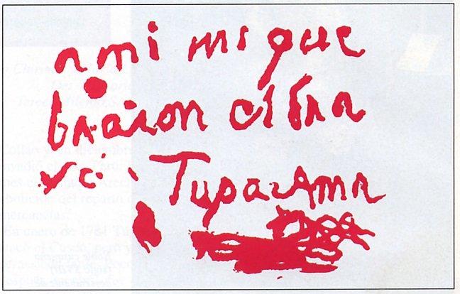 Assinatura de Tupac-amaru