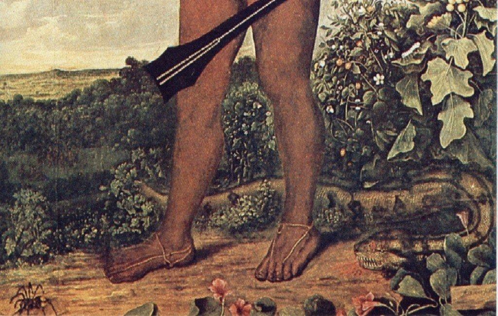 """Homem Tapuia"", Albert Eckhout, detalhe."