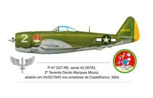 Avião pilotado pelo 2o. Tenente Danilo Marques Moura