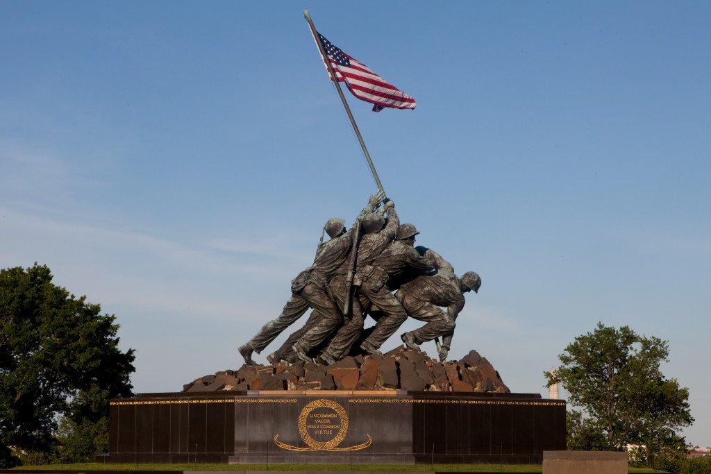 Memorial Iwo Jima, cemitério de Arlington, Virgínia,