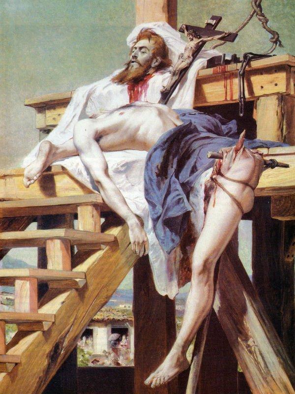 """""""Tiradentes esquartejado"""", Pedro Américo, 2,70 x 1,65 m, 1893, Museu Mariano Procópio, Juiz de Fora, MG."""