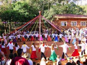 São João, dança das fitas, Fazenda Demétria, Botucatu.
