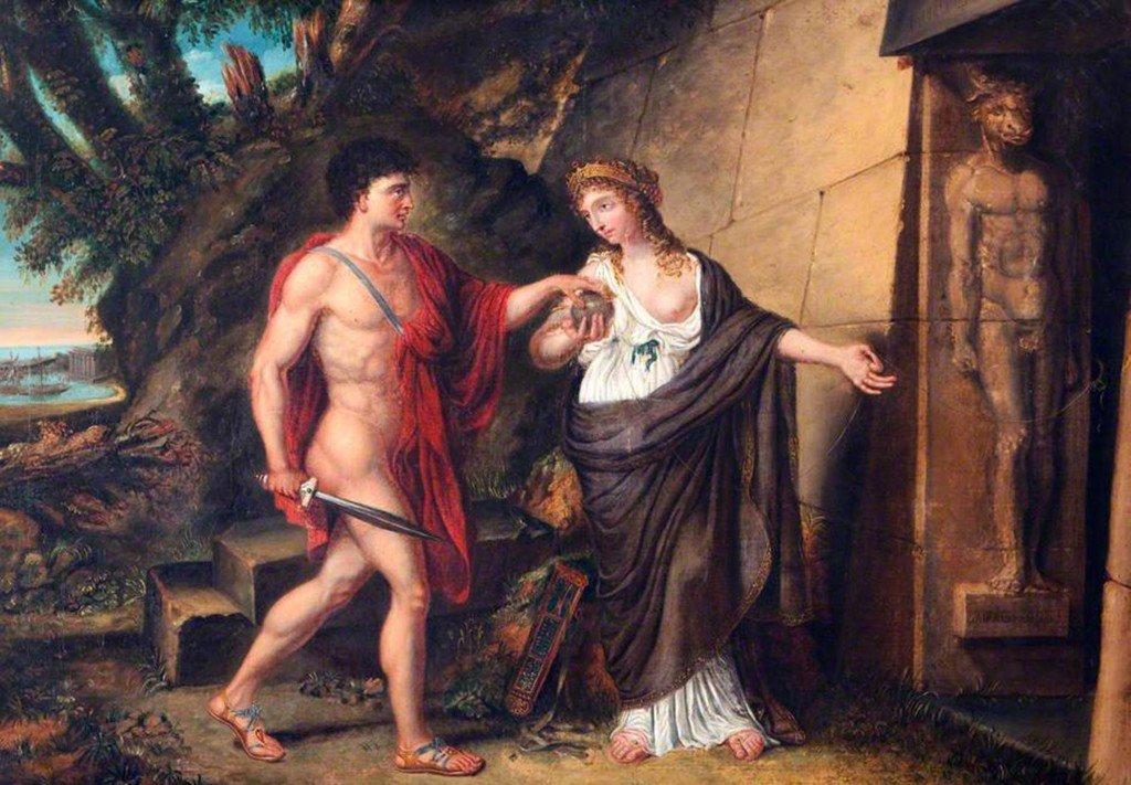 Teseu e Ariadne na entrada do Labirinto