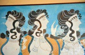 Damas em azul, Cnossos