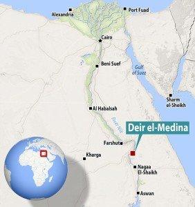 Mapa de Deir el- Medina