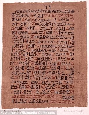 Papiro de Ebers, c. 1550 a.C.