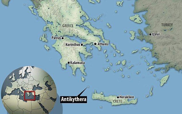 Localização da descoberta do mecanismo de Anticítera