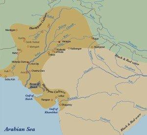 civilização de Harappa_mapa