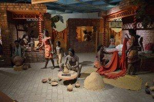 Cenário reconstituindo o cotidiano em Harappa, Museu Nacional da Índia, Nova Délhi.
