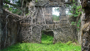 Ruínas do castelo da ilha Bunce, Serra Leoa.