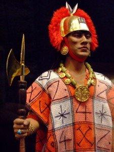 Reconstituição artística de Atahualpa feita por George S. Stuart, Museu de , Califórnia