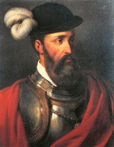 Francisco Pizarro, conquistador do Império Inca, governou pouco tempo os seus domínios, pois foi assassinado em 1541.