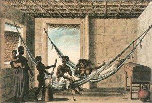 Interior de uma casa do baixo povo