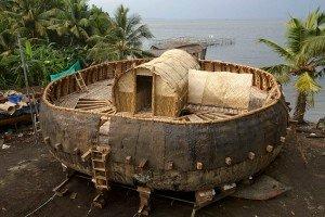 Replica da arca redonda, segundo Irving Finkel.