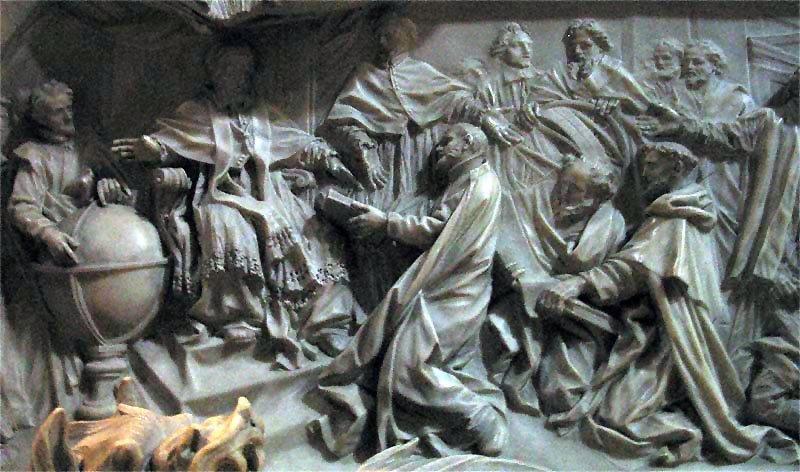 Tumba de Gregório XIII (detalhe).