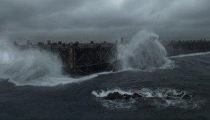 """O dilúvio e a arca, cena do filme """"Noé"""", de 2014, dirigido por Darren Aronofsky."""