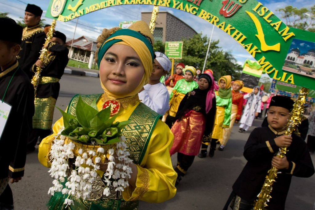Eid Ras-Al Sana, em Sumatra, Indonésia.