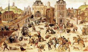 Massacre da Noite de São Bartolomeu, ocorrido em 23 e 24 de agosto de 1572, em Paris.