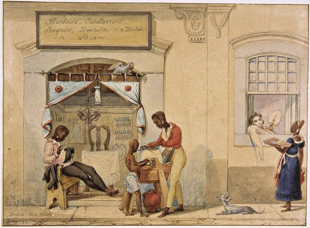 Loja de barbeiro, Debret