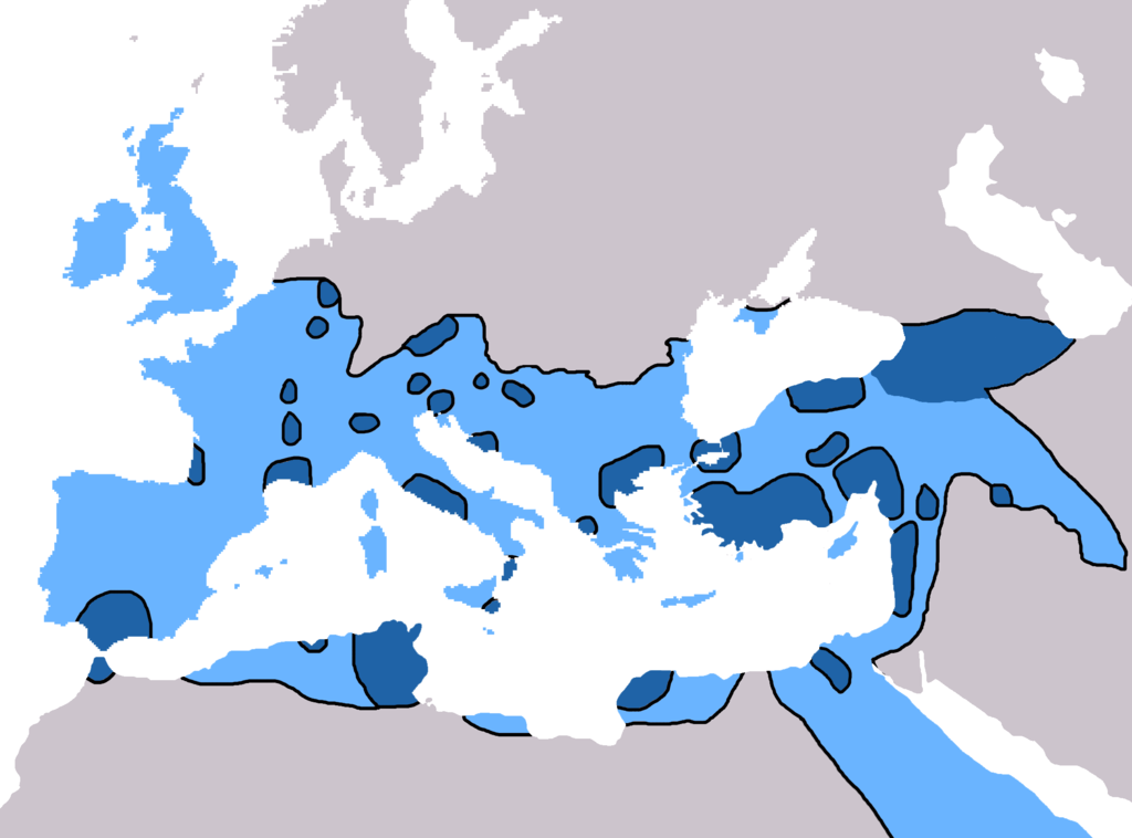 mapa da propagação do cristianismo