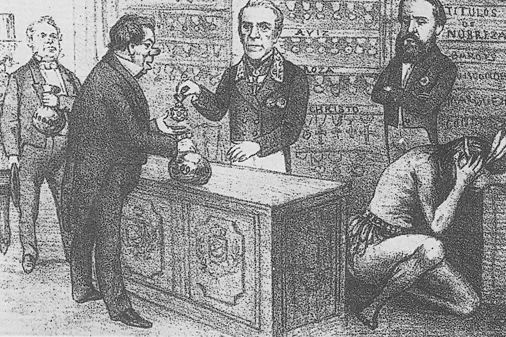 Venda de comendas, Ângelo Agostini, 1867