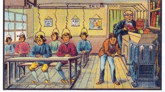 A escola no ano 2000.
