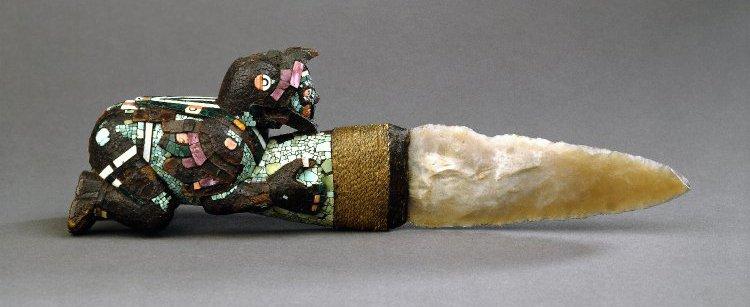 Faca sacrificial asteca