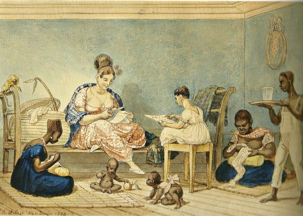 Senhora de algumas posses, Debret, 1823.