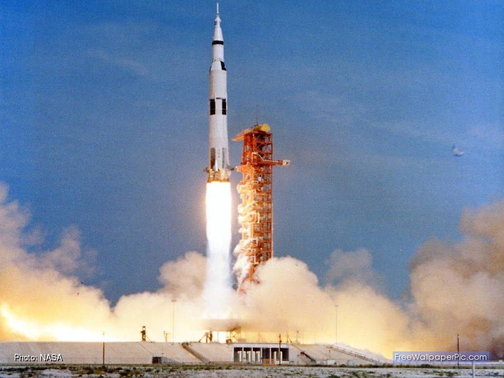 Lançamento do foguete Saturno V