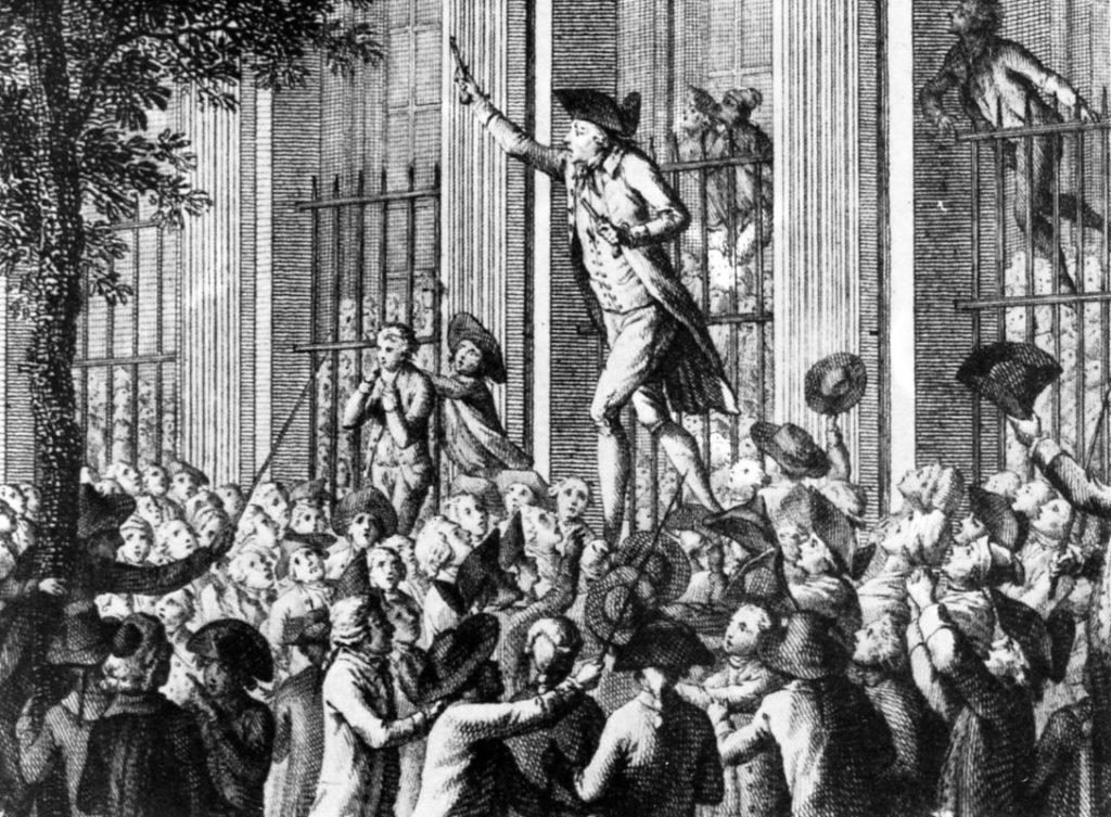 Camille Desmoulin prega a insurreição