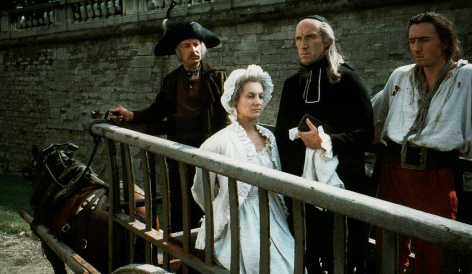 """Maria Antonieta, cena do filme """"Revolução Francesa"""", 1989."""