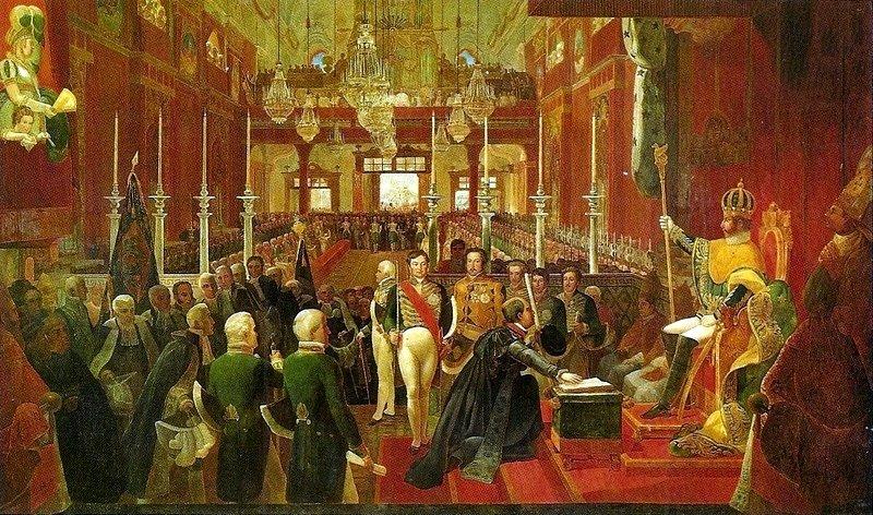 Coroação de D. Pedro I, Debret