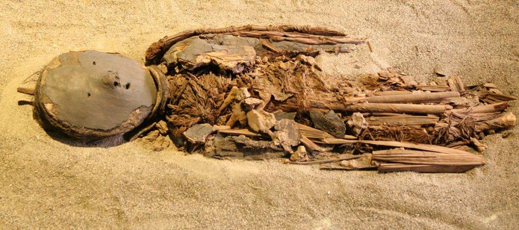 Múmia de criança Chinchorro.
