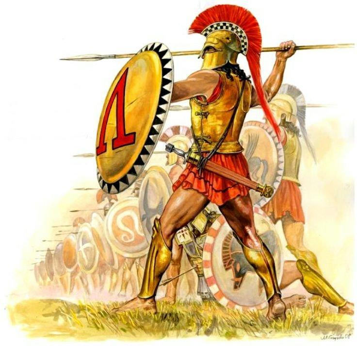 Hoplita em guerra