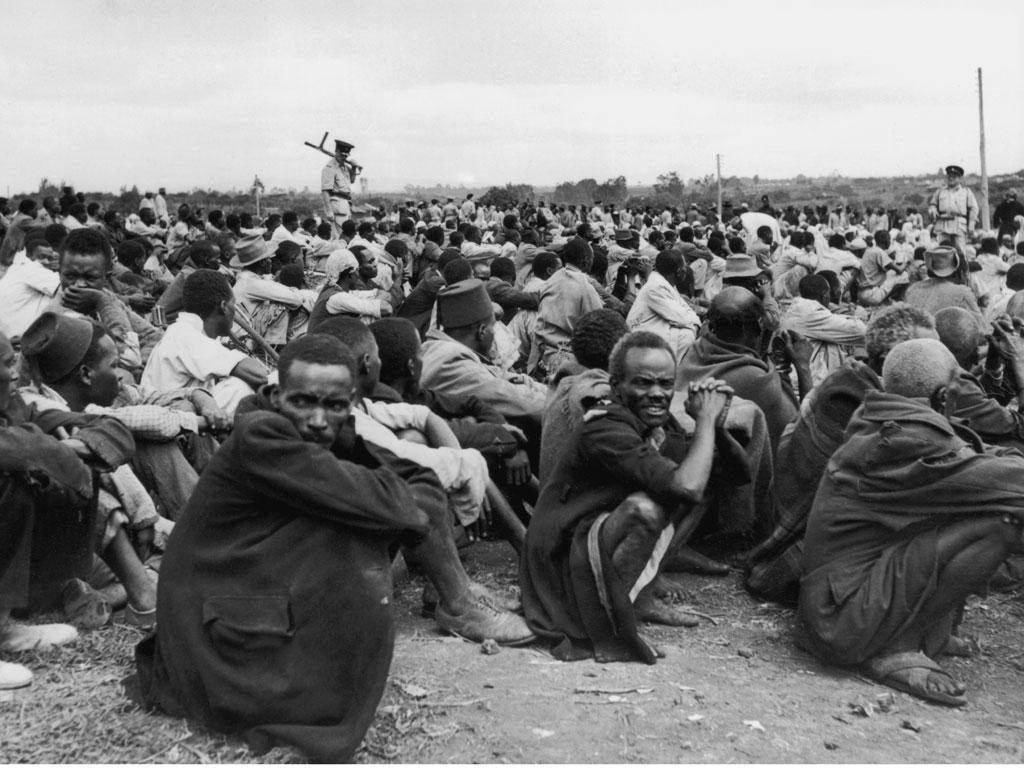 Prisioneiros mau-mau, 1953.