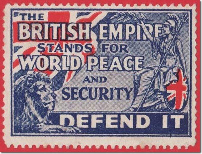 Selo britânico de 1914.