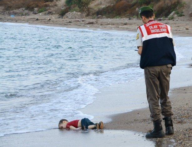 Criança síria morta na praia, Turquia