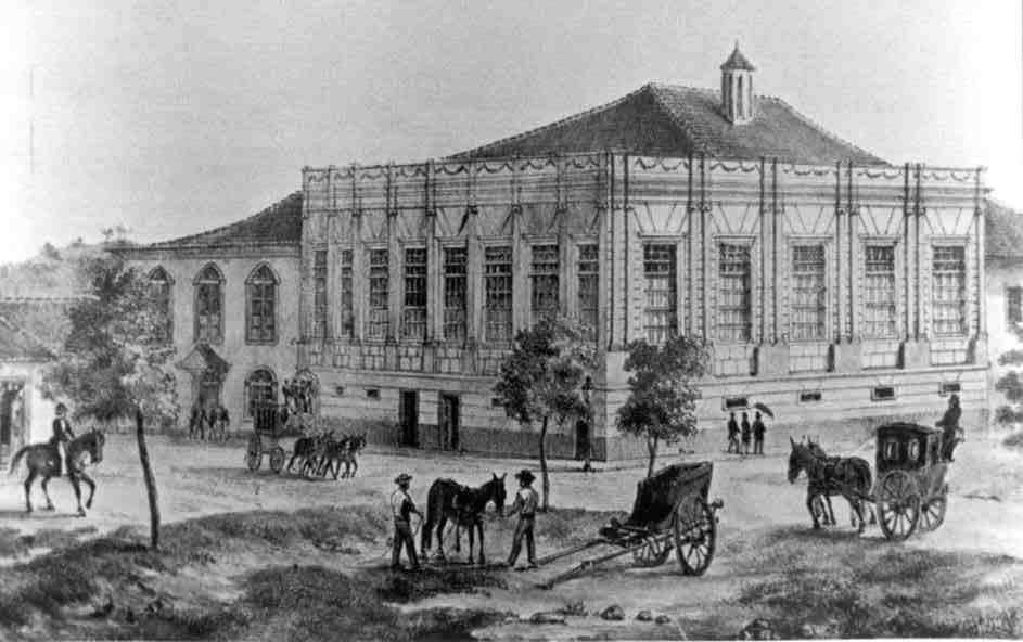 Palácio do Conde dos Arcos, sede do Senado imperial, Rio de Janeiro