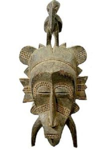 Máscara Africanas Senufo, Costa do Marfim, Mali e Burkina Faso