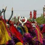 Festival de Máscaras Africanas de Dédougou, em Burkina Faso.