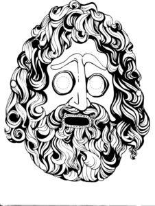 O Teatro Grego Arte E Fascinio Mascaras Para Recortar E Colorir
