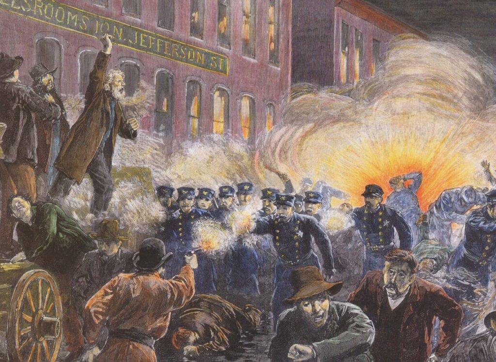 Massacre Haymarket, em Chicago, 1886