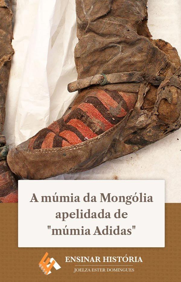"""A múmia da Mongólia apelidada de """"múmia Adidas"""""""