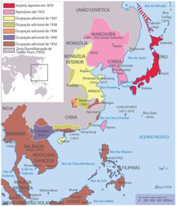Territórios ocupados pelo Japão